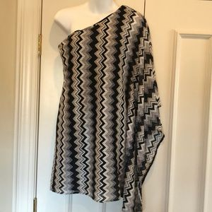 T Bags one shoulder poncho with attached tank xs